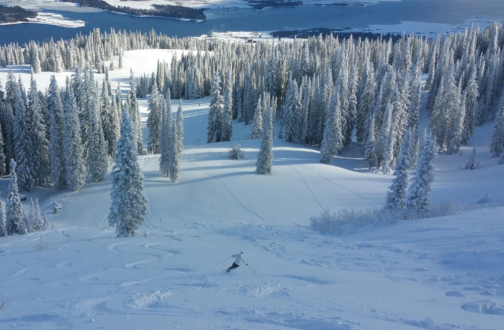Skiers at Tamarack grabbed powder turns on Dec. 22, 2014. - © Tamarack Resort