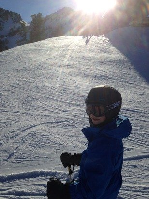 Great skiing - making do!!