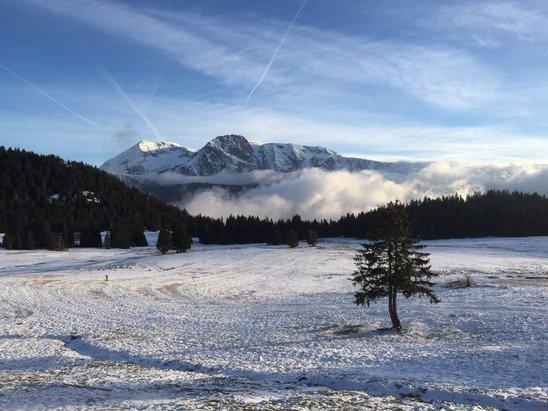 Plateau de l'Arselle le 26/12. Depuis il a bien neigé
