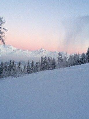 Très froid mais un paysage magnifique ce matin à 8h15.