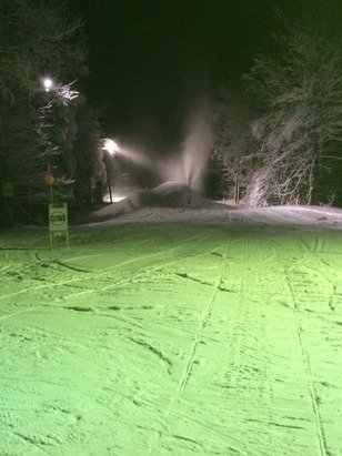 Conditions were great tonight all things considering a few icy spots towards the end though. They're making a ton of snow all over the mountain!