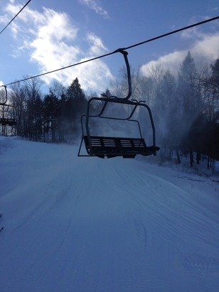 Super amazing day at the Beast...conditions were stellar, trails are groomedand the sun was shining, sweet perfection