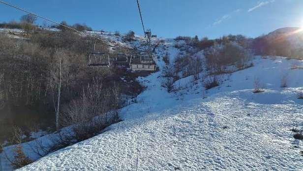 Giornata da dimenticare.piste bruttissime scarse di neve e seggiovie chiuse .32 euro di skipas buttati via.