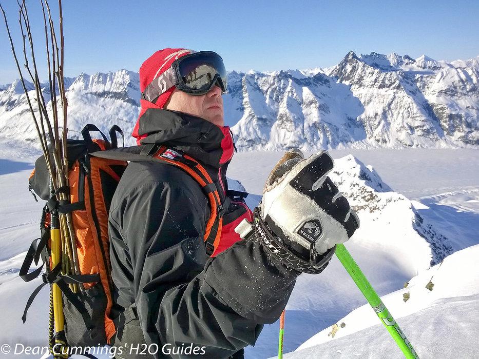 Skier Dean Cummings surveys the next line. - © Josh Cooley