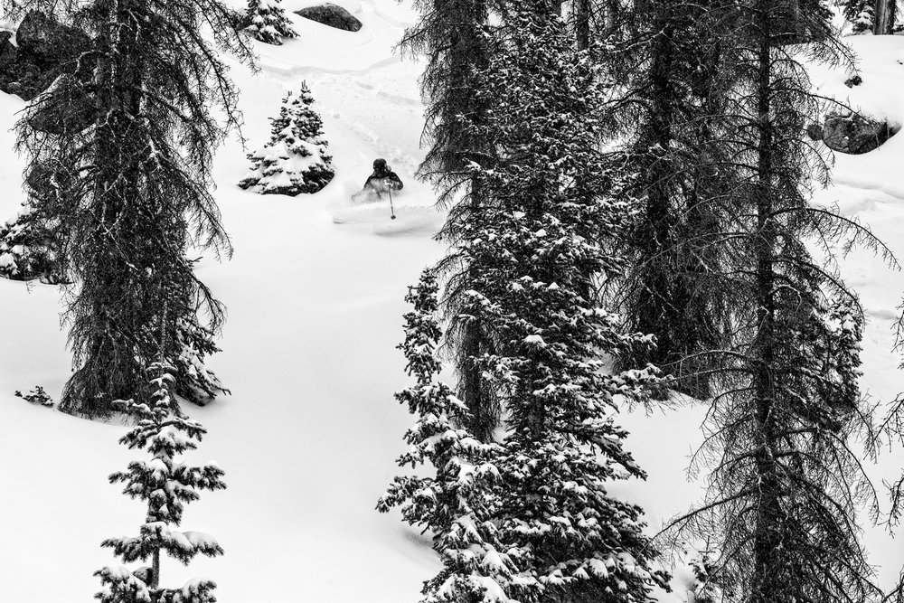 Untouched powder is why Sven Brunso skis Wolf Creek. - © Liam Doran