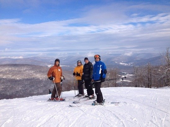 Awesome day Saturday. 3 to 5 fresh on top. Skied whole mountain. Don't look at trail count. Woods almost there