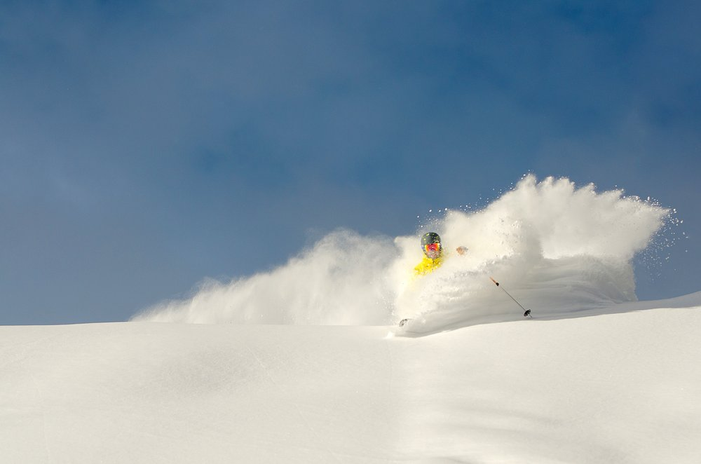"Sunday River piled on 18"" of pow, with 2 foot drifts in spots. - © Sunday River"