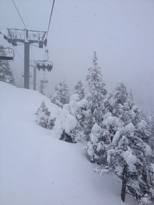 Excellente neige, mauvaise visibilité