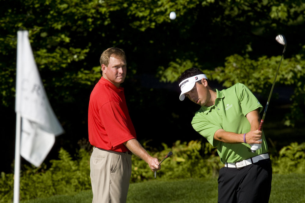 Golf instruction at Crystal Mountain, MI.