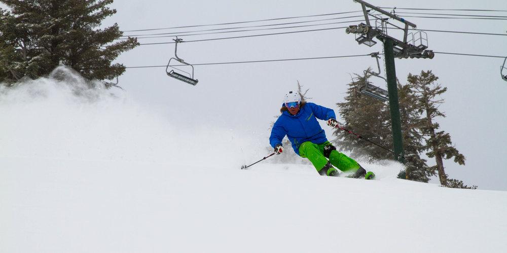 A weekend storm, Feb. 7-9, 2015, refreshed skiing at Kirkwood. - © Kirkwood