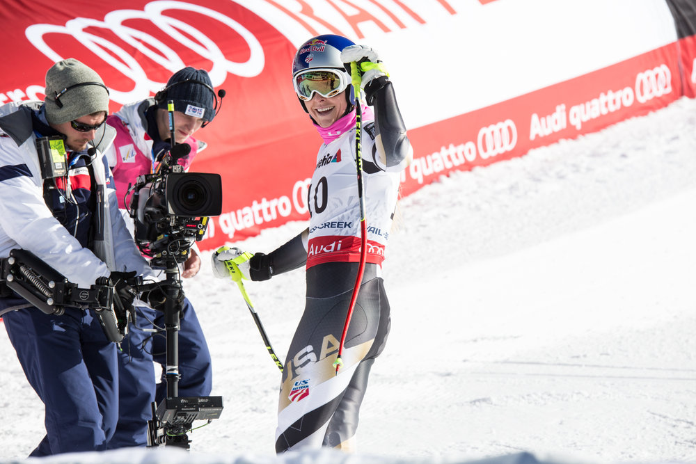 Super G training for Lindsay Vonn. - ©  Liam Doran