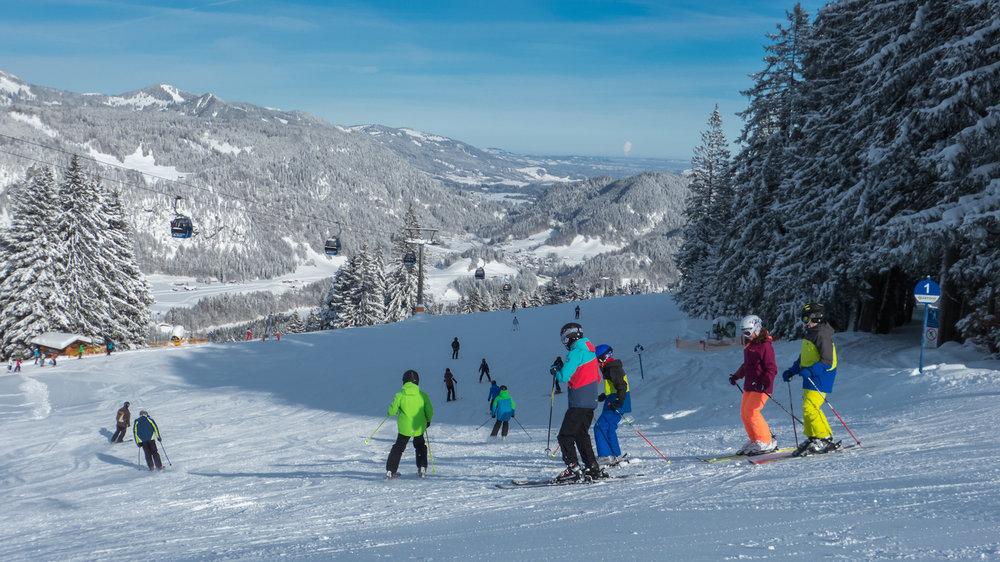 Auf der Hauptabfahrt - © Bergbahnen Oberstdorf/Kleinwalsertal