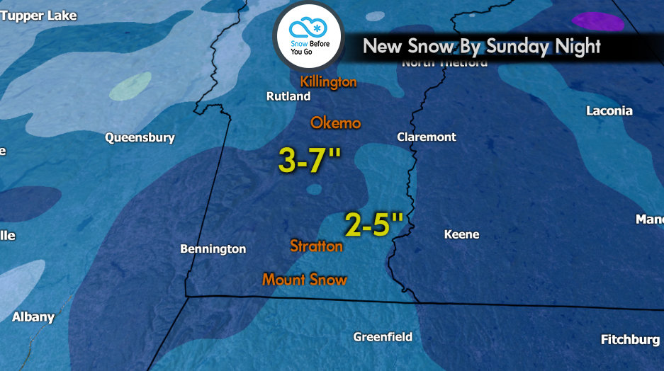 Snow Before You Go: Your Northeast Ski Forecast Through Sunday - © Meteorologist Chris Tomer