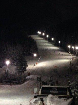 Nocturne ! Top ! La neige est bien la ! Tous A vos skis !