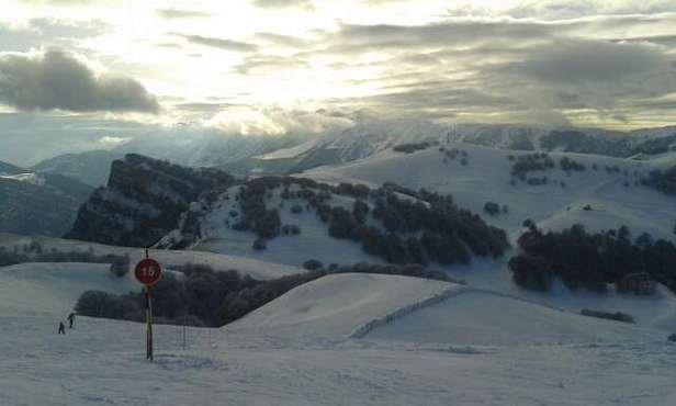 finalmente il sole. pomeriggio a tutto sci