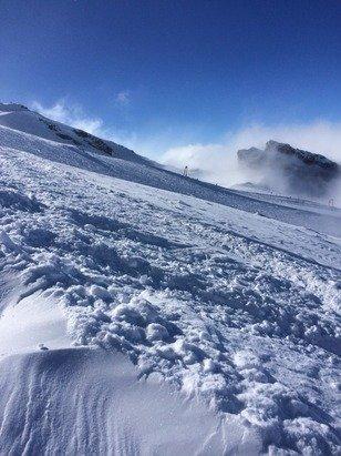 Sunday feb 23, sunny at the top but very bad vis below Rotstöckli
