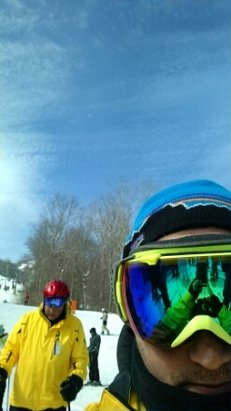 nice Day. sunny and lifts running quick. short lines AM.