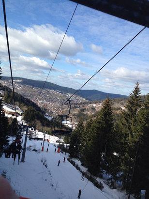 Gérardmer - La neige est bonne mais avec 13 degrés je ne c pas si ça va durer longtemps  - © iPhone de Lahmer