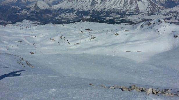 Superdevoluy / La Joue du Loup - dépechez vous,  ca ne durera pas car il fait trop beau - © skieur fou