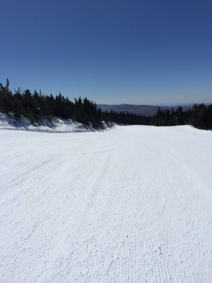 Stratton Mountain - Hard and Fast today- crazy cold - windy in am some ice after lunch - ©iPhone