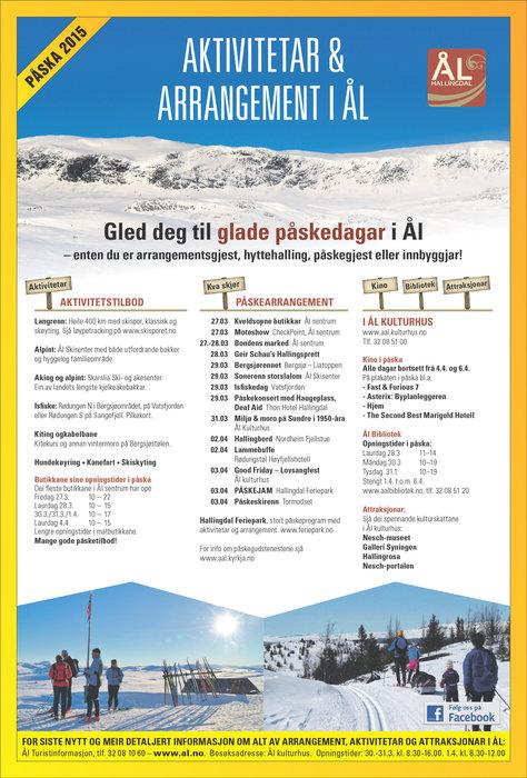 Påskeprogram for Ål 2015 - © Linda Dalene Bjerke, Ål Turistinformasjon