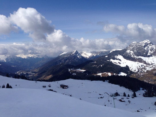 Le Grand Bornand - View across grand bo yesterday - © SohoCorp iPhone