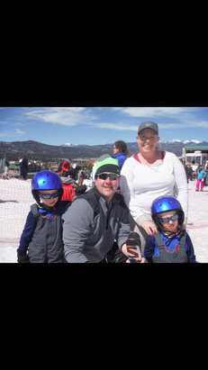 Angel Fire Resort - Moreland family had a great 2015 Spring Break at Angel Fire. 4 year old twins had 2 great instructors and loved their first time on snow. Snow was melting fast but we still found plenty of great runs.  - © iPhone