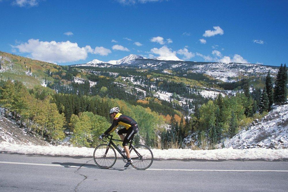 Biking in Durango, CO.