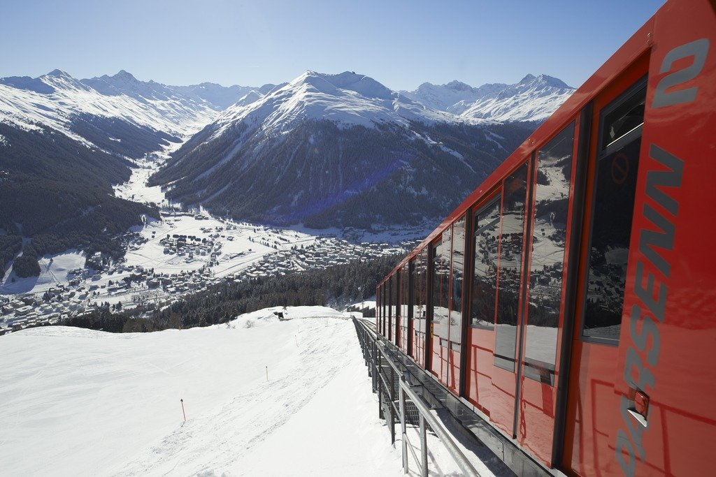 Parsenn has plenty of easy freeride options, Davos-Klosters - © © Destination Davos Klosters