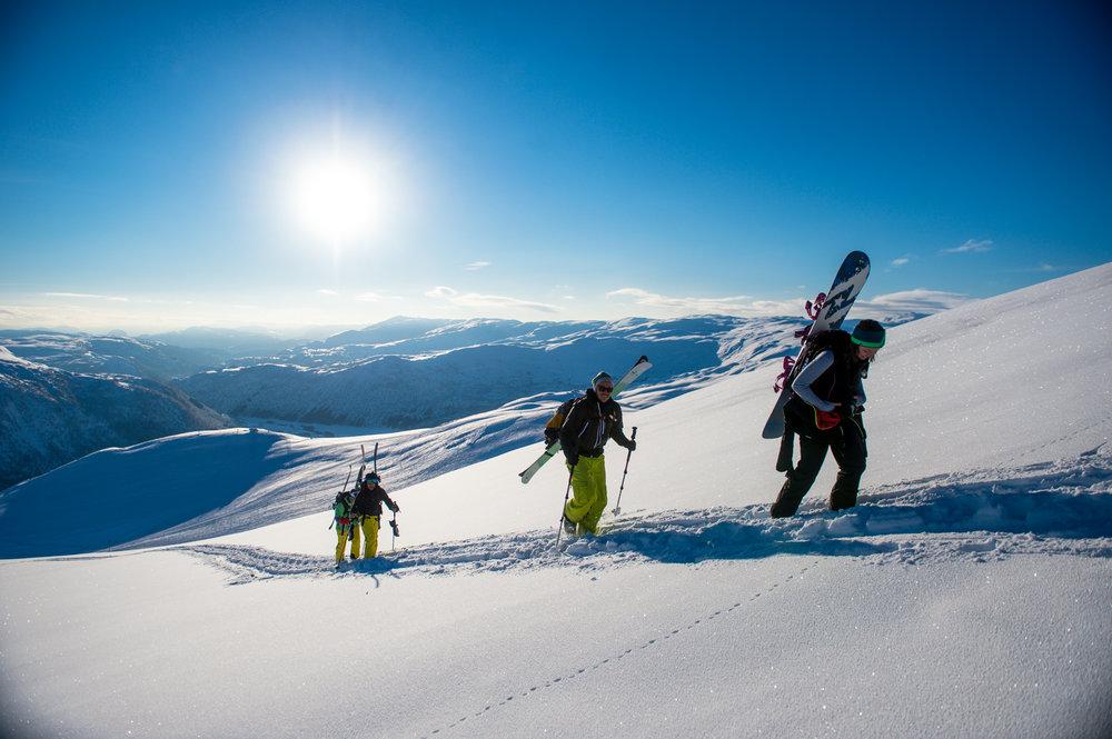 Topptur i Myrkdalen  - © Myrkdalen lanserer vinterfestival førstkommende helg