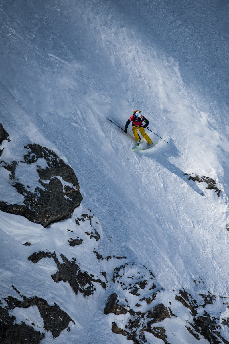 Steiles Gelände in Verbier - © David Carlier | Freeride World Tour