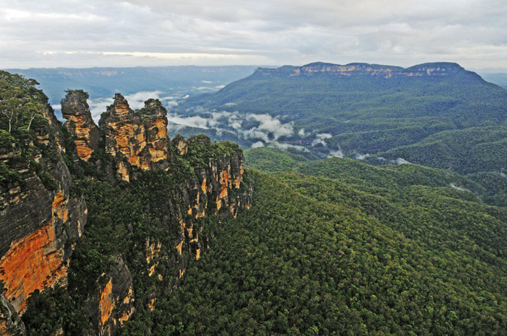 """""""Three Sisters"""", Wahrzeichen der Blue Mountains, New South Wales, Australien  - © Oliver Gerhard"""