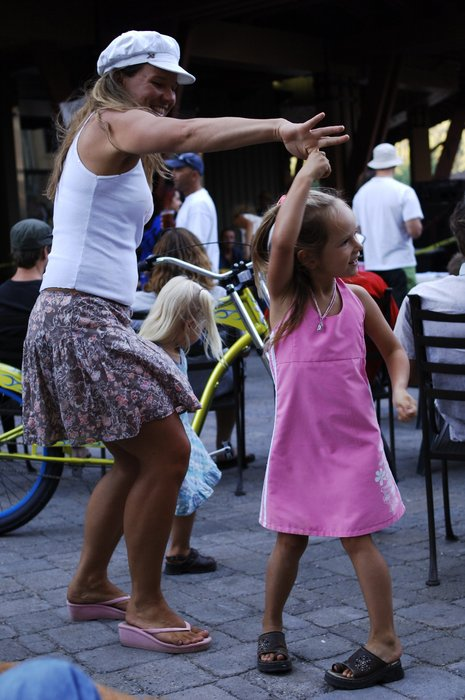 Dancing at Squaw Valley's Brew, Jazz and Funkfest