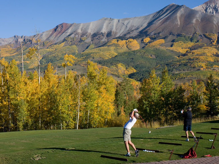 Golfers at the Telluride Golf Club.
