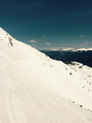 Marmot Basin - Great spring conditions!  Especially enjoyed the runs off the knob chair over the past weekend. - © she