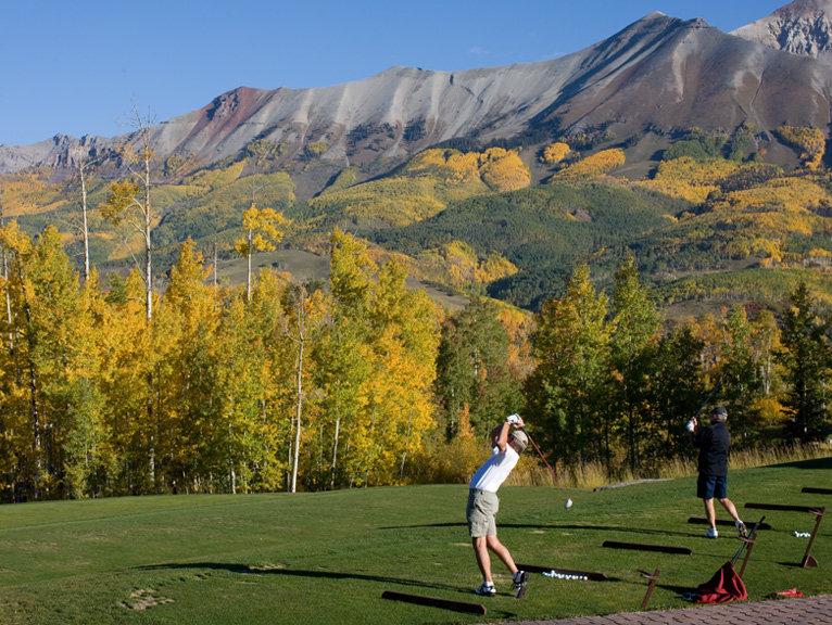 Golfers at the Telluride Golf Club.