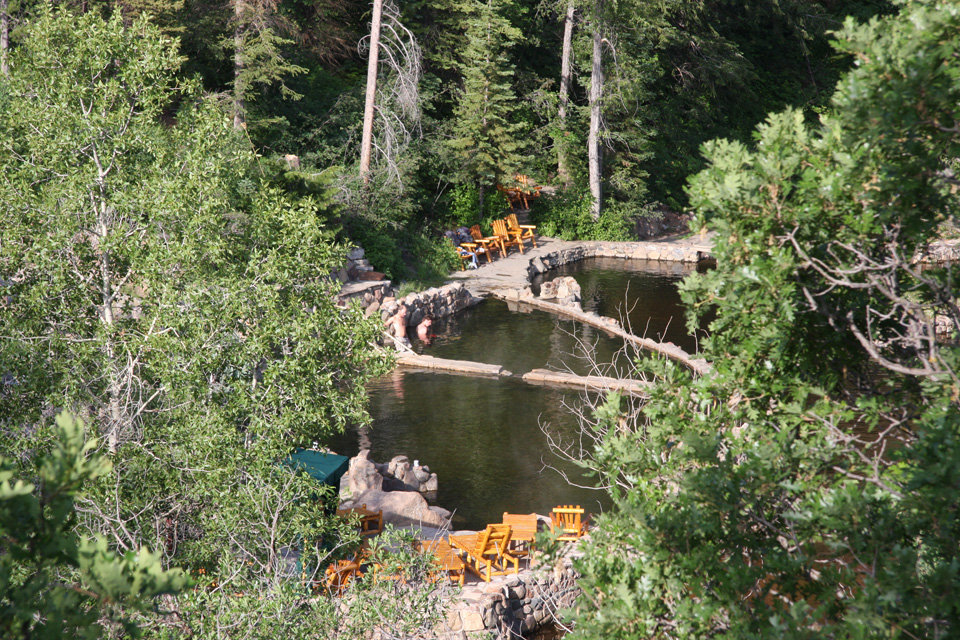 Take a soak in the Strawberry Park natural hot springs after a long day of hiking. - © Strawberry Park Hot Springs