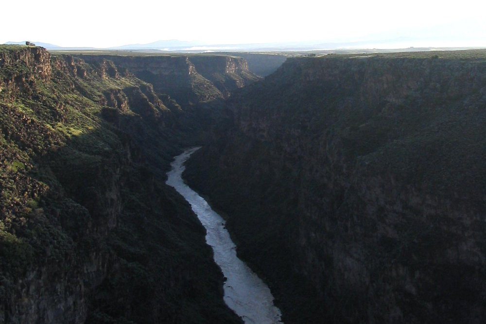 The Rio Grande Gorge at sunrise. Image by Taos Destination Connection Team.