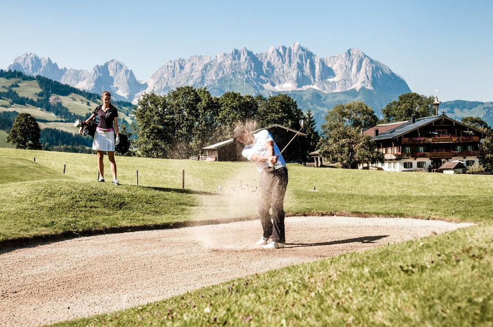 Golfer bei Kitzbühel - ©Kitzbühel Tourismus