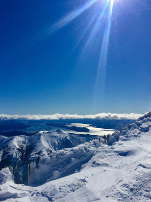 Cerro Catedral Alta Patagonia - View from the top on Saturday. Great skiing here!  - © Sheryl's iPhone