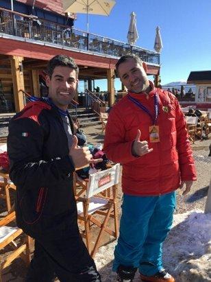 Valle Nevado - essa dupla eh demais!!!! - © diogo e thiago
