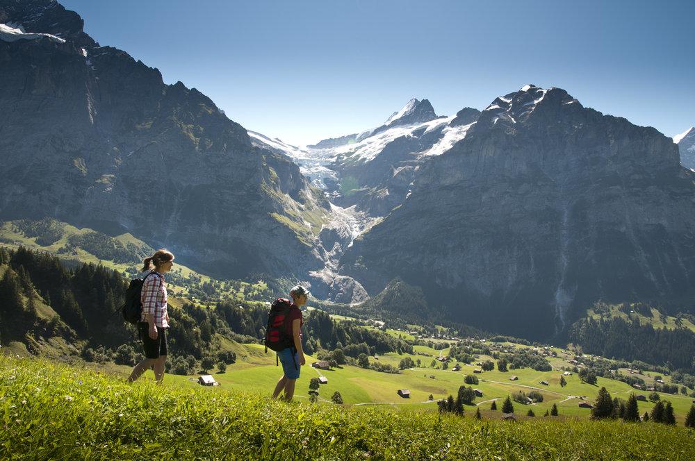 Wandern in Grindelwald - © Jungfrau Region | Mattias Nutt