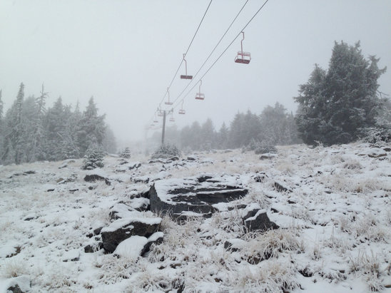 Mount Ashland - Nov 2 2015: first inch of snow this season - © PC's iPhone