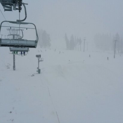 Boreal Mountain Resort - pretty wet today