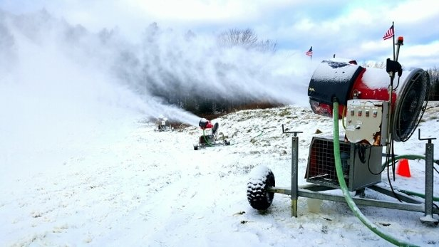 Ski Brule - We've been making snow all night! Opening day is looking like Sunday - © jpell61392