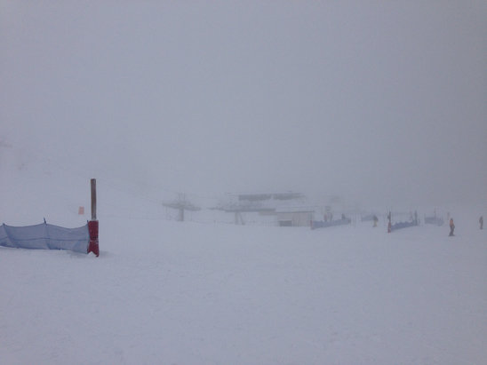 Bogus Basin - Visibility was so bad at the top of the mountain .  - © dombmx