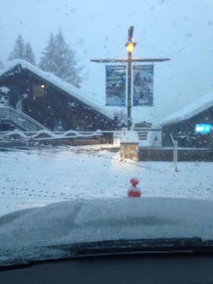 Mt. Hood Ski Bowl - Should be a great day! - ©Kevin's iPhone