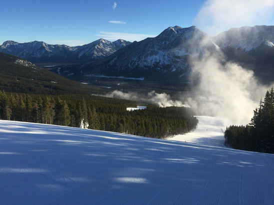 Nakiska Ski Area - Good morning.  Ice in afternoon.  Need snow - © jake