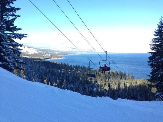 Homewood Mountain Resort - Firsthand Ski Report - ©Chrissy Beretta's iPhone
