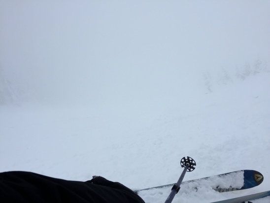 Alpental - Visibility today is...not good. - ©Andrew's iPhone